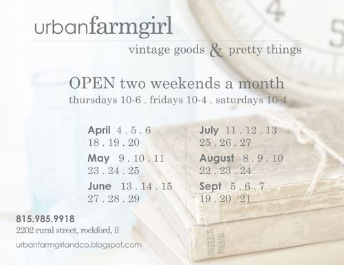 Urban Farmgirl open